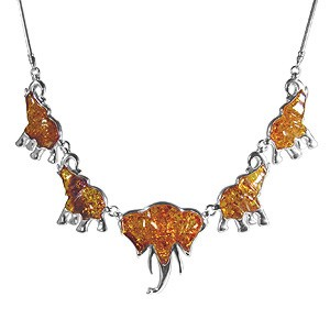 Collier Cinq Elephants