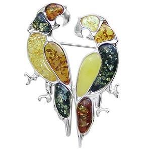 Broche Perroquets