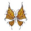 Broche papillon GM cognac