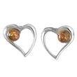 Boucles d'oreilles coeur perle maxi