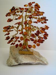 arbre du bonheur a2b cognac 14 cm arbre du bonheur bijou ambre et argent. Black Bedroom Furniture Sets. Home Design Ideas