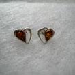 Boucles d'oreilles demi coeur