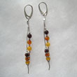 Boucles d'oreilles fil multicolore
