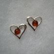Boucles d'oreilles coeur perle