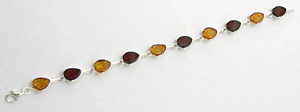 Bracelet petale - bijou ambre et argent