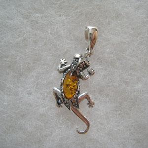 Pendentif cam l on pendentifs bijou ambre et argent - Nettoyer chaine en argent ...