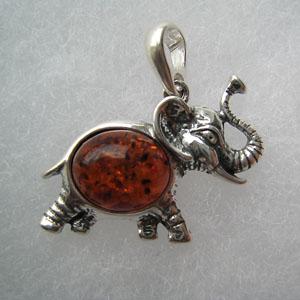 Pendentif elephant maxi pendentifs bijou ambre et argent - Nettoyer chaine en argent ...