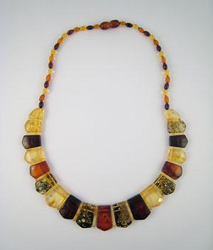 Collier Egyptien - bijou ambre et argent