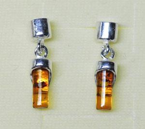 Mini tubes - bijou ambre et argent