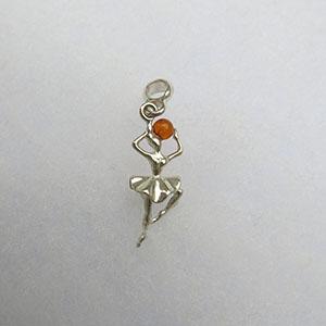 Pendentif danseuse pendentifs bijou ambre et argent - Nettoyer chaine en argent ...