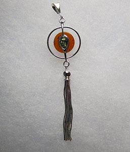 Pendentif saturne pendentifs bijou ambre et argent - Nettoyer chaine en argent ...