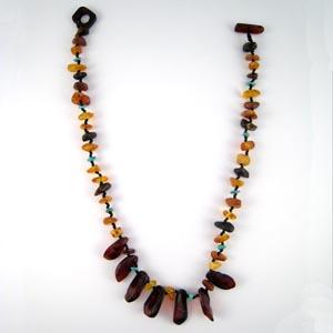 Collier ambre et turquoise - bijou ambre et argent