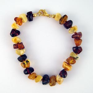 Bracelet ambre carré - bijou ambre et argent