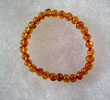 Bracelet ambre bb cognac