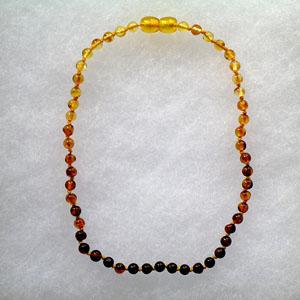 Collier ambre bébé boules dégradées - bijou ambre et argent