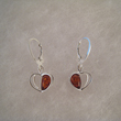 Boucles d'oreilles coeur pendant