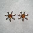 Boucles d'oreilles soleil miniature