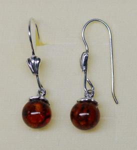 Perles d'ambre - bijou ambre et argent