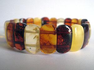 Bracelet d'ambre rigide - bijou ambre et argent