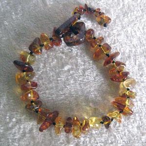 Bracelet baroque - bijou ambre et argent