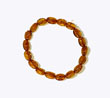 Bracelet ambre bb olive cognac
