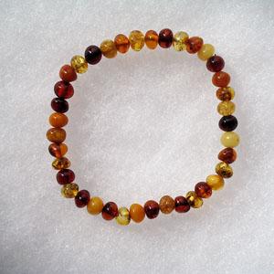 Bracelet ambre perles - bijou ambre et argent