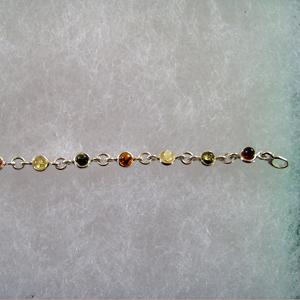 Bracelet petit rond - bijou ambre et argent