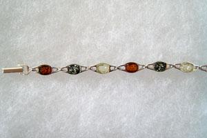 Bracelet mode - bijou ambre et argent