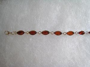 Bracelet petites navettes - bijou ambre et argent