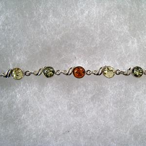 Bracelet rond - bijou ambre et argent