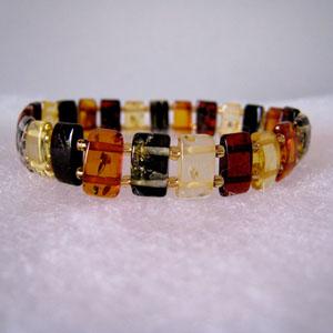 Bracelet ambre élastiqueMM - bijou ambre et argent