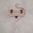 Broche chat moustache