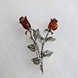 Broche Rose double