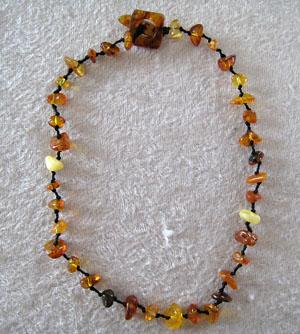 Collier ambre simple - bijou ambre et argent