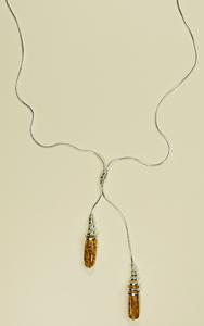 Collier Emma - bijou ambre et argent