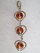 Pendentif coeur trois perles