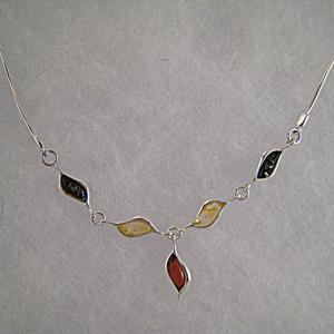Collier Amélia - bijou ambre et argent