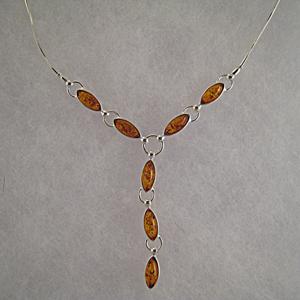 Collier Jenny  - bijou ambre et argent