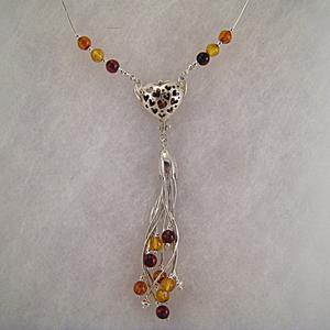 Collier francesca - bijou ambre et argent