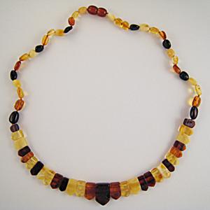 Collier Ambre style égyptien - bijou ambre et argent