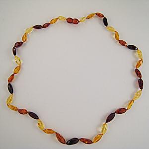 Collier ambre épi multicolore - bijou ambre et argent