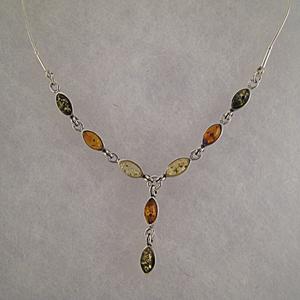Collier Louisa - bijou ambre et argent
