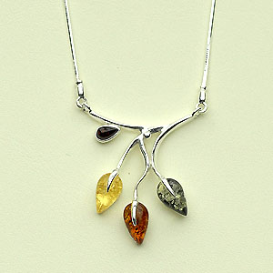 Collier Clara - bijou ambre et argent