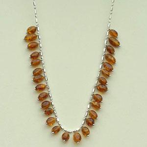 collier olivette - bijou ambre et argent