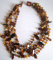 Collier d'ambre 4 rangs
