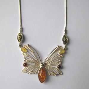 Collier Patricia - bijou ambre et argent