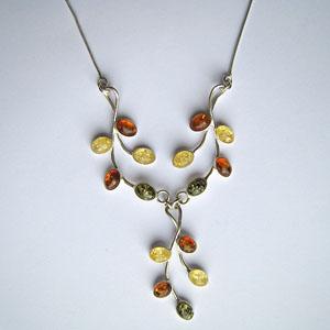 Collier Pétra - bijou ambre et argent