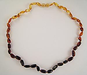Collier olives dégradées - bijou ambre et argent