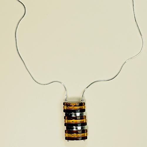 Collier Marta - bijou ambre et argent