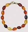 Bracelet  ambre olive fermoir